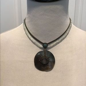 Abalone Shell Necklace with Accents